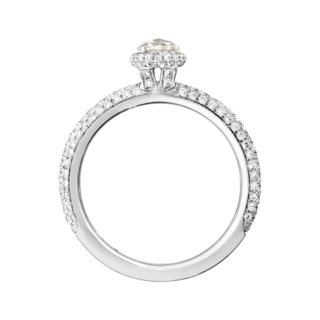Bague Romance Pavé in Or gris