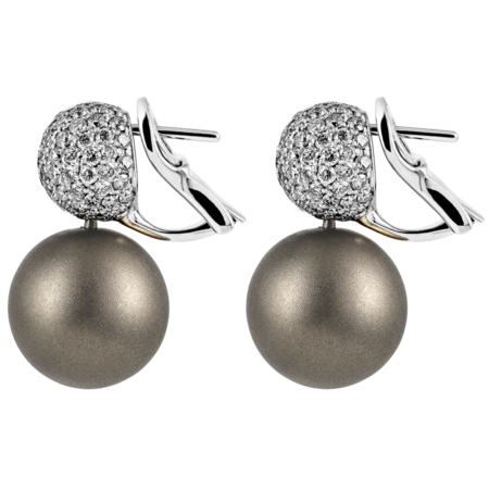 Boucles d'oreilles Or blanc & Diamant in Or gris