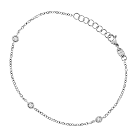 Bracelet Circuit 0.10 carat in Or gris