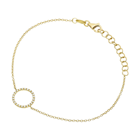 Bracelet Enchanté Cercle in Or jaune