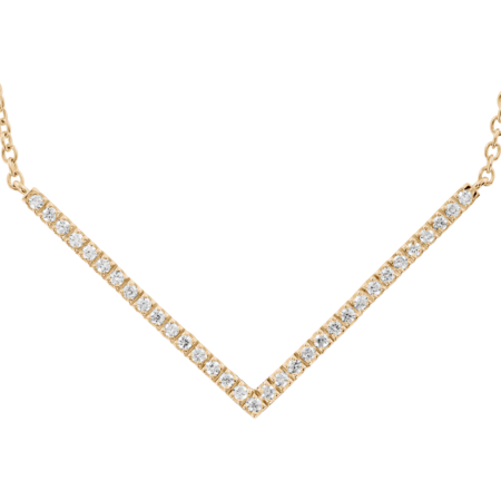 Collier Chevron Enchanté in Or rose