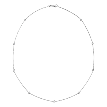 Collier Diamant Circuit 0,03 carat in Or gris