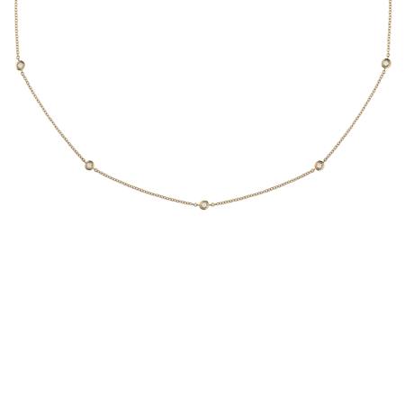 Collier Diamant Circuit 0,03 carat in Or rose