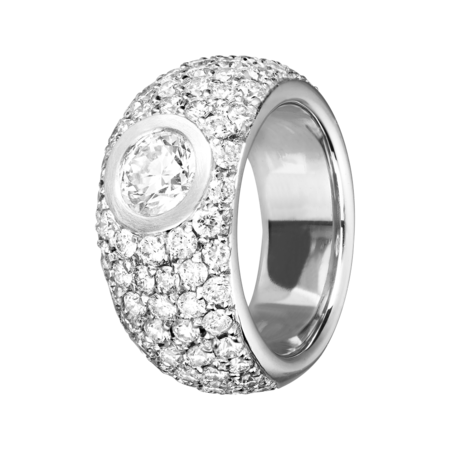 Diamond Snow Bague 77 Diamants in Or gris