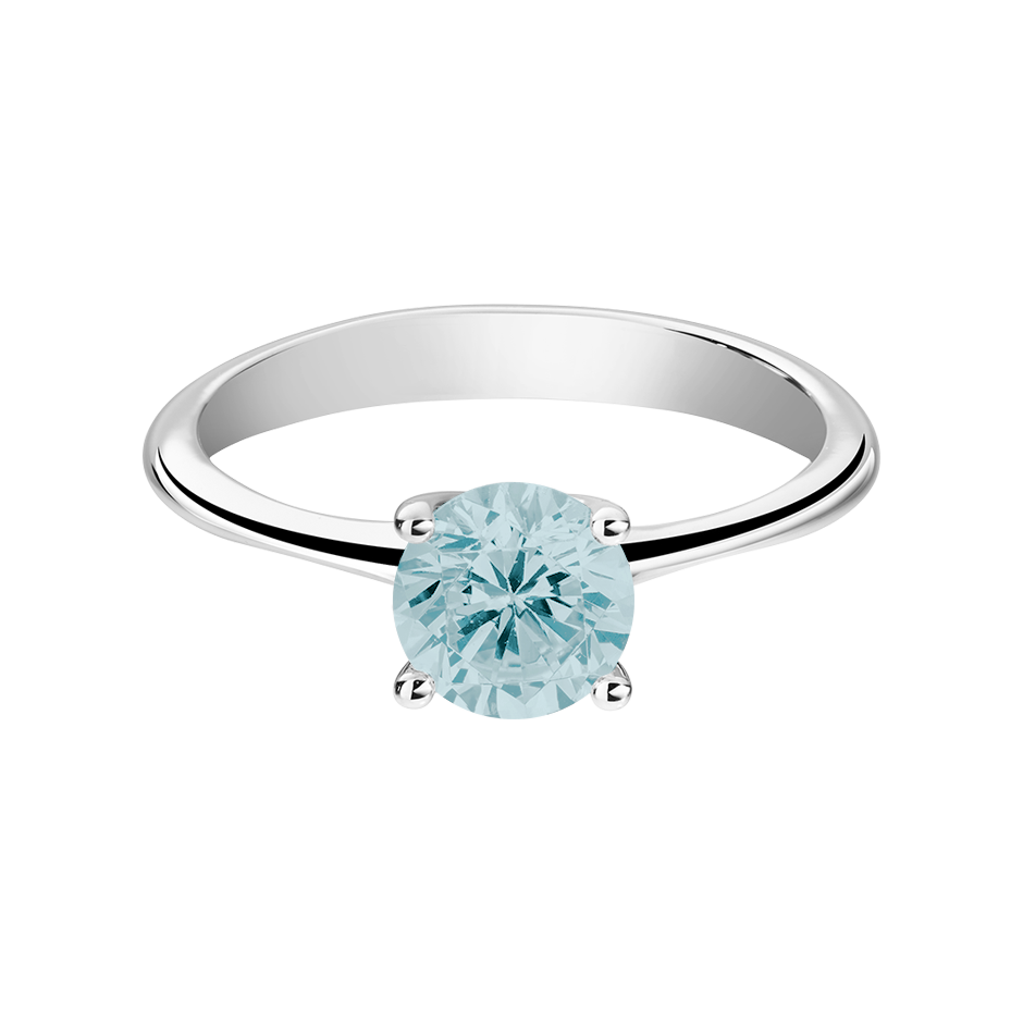 Basel Aquamarine blue in Platinum