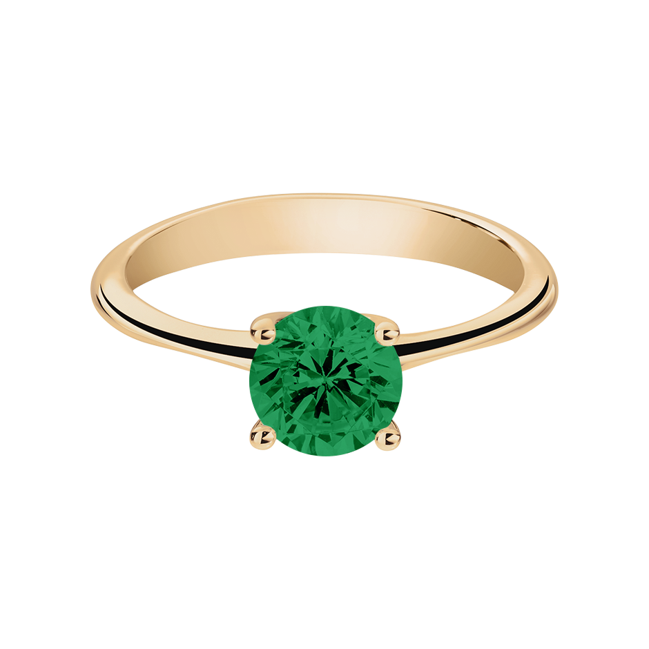 Basel Emerald green in Rose Gold