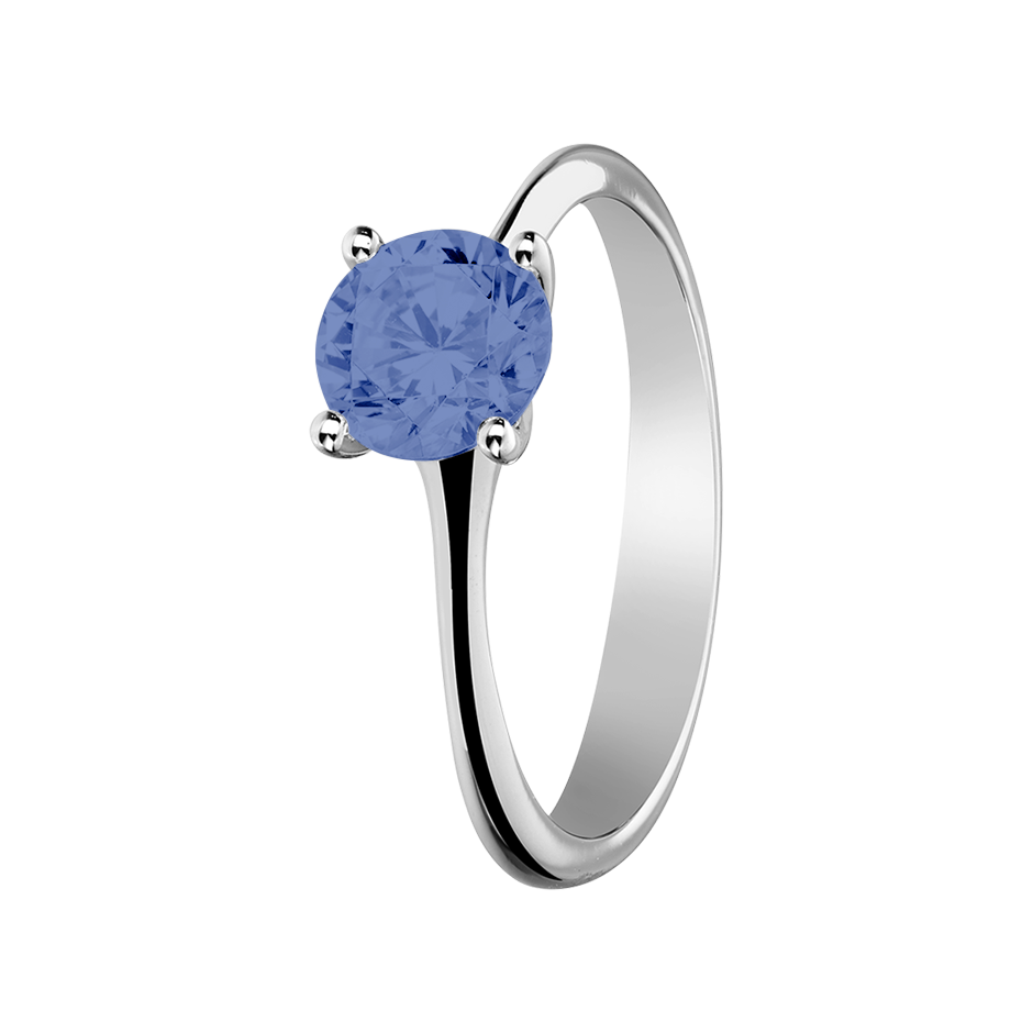 Basel Tanzanite blue in Platinum