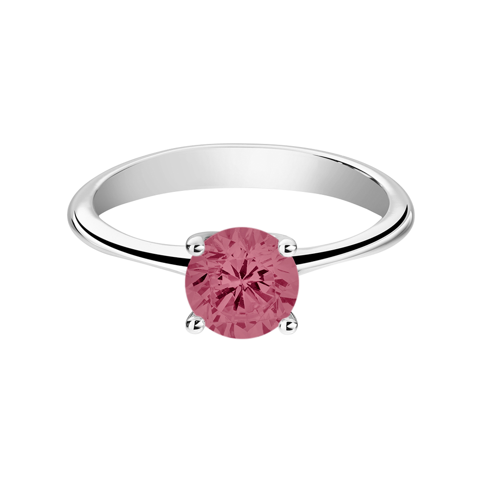 Basel Tourmaline pink in Platinum