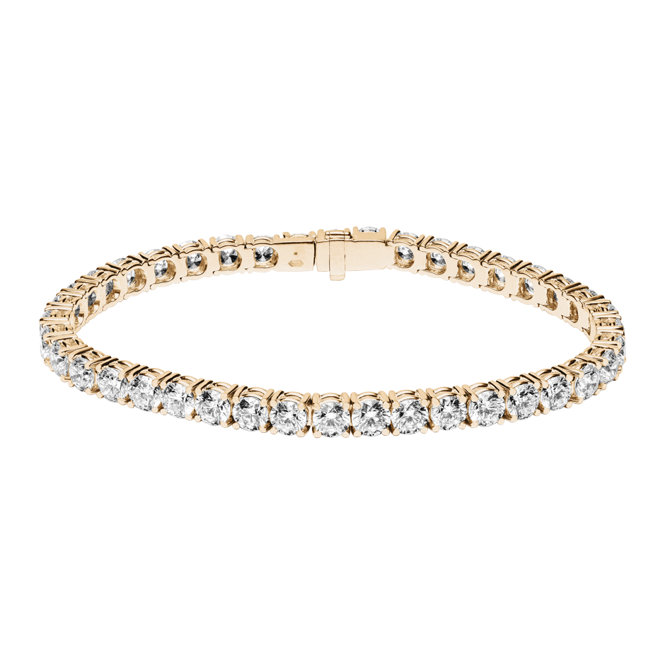 Bracelet Tennis 13,13ct in Or rose