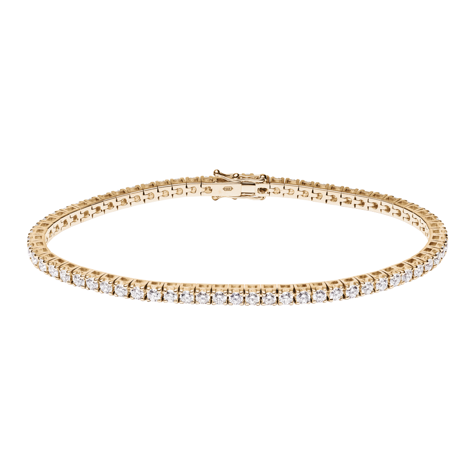 Bracelet Tennis 3,28ct in Or rose