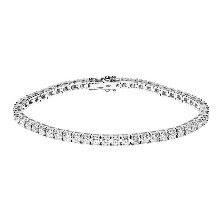 Bracelet Tennis 5,38ct in Or gris
