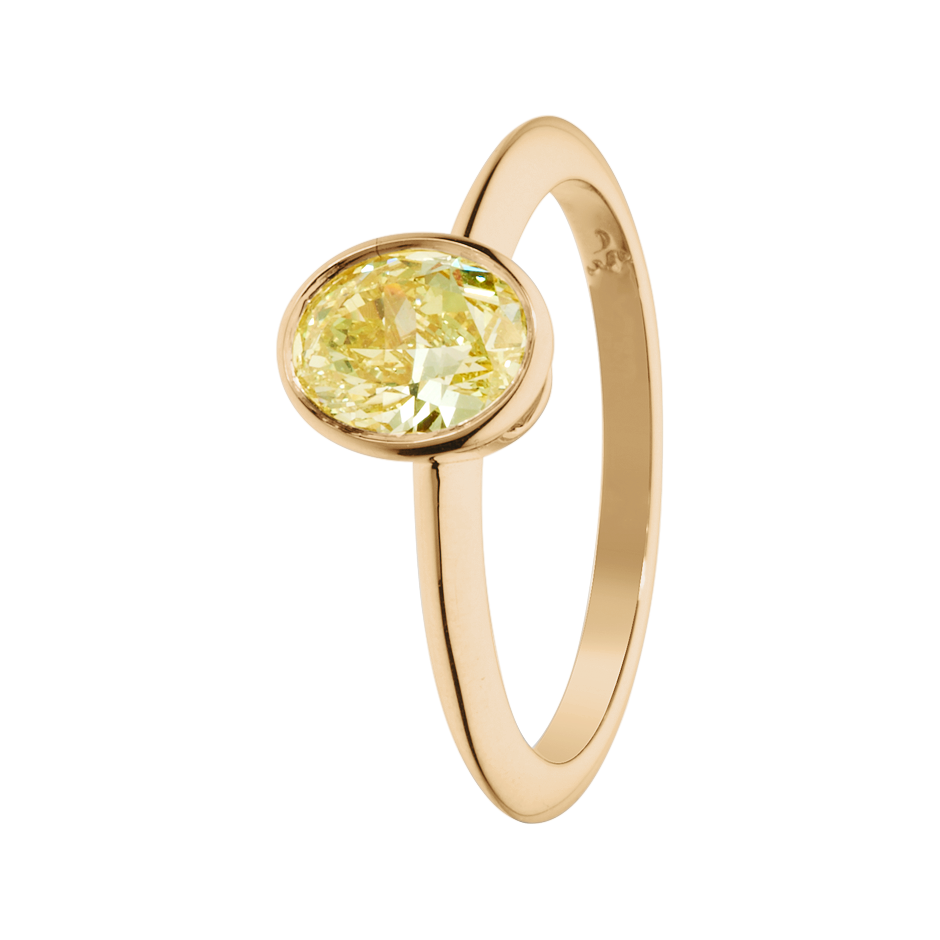 Diamantring Fancy Yellow in Roségold