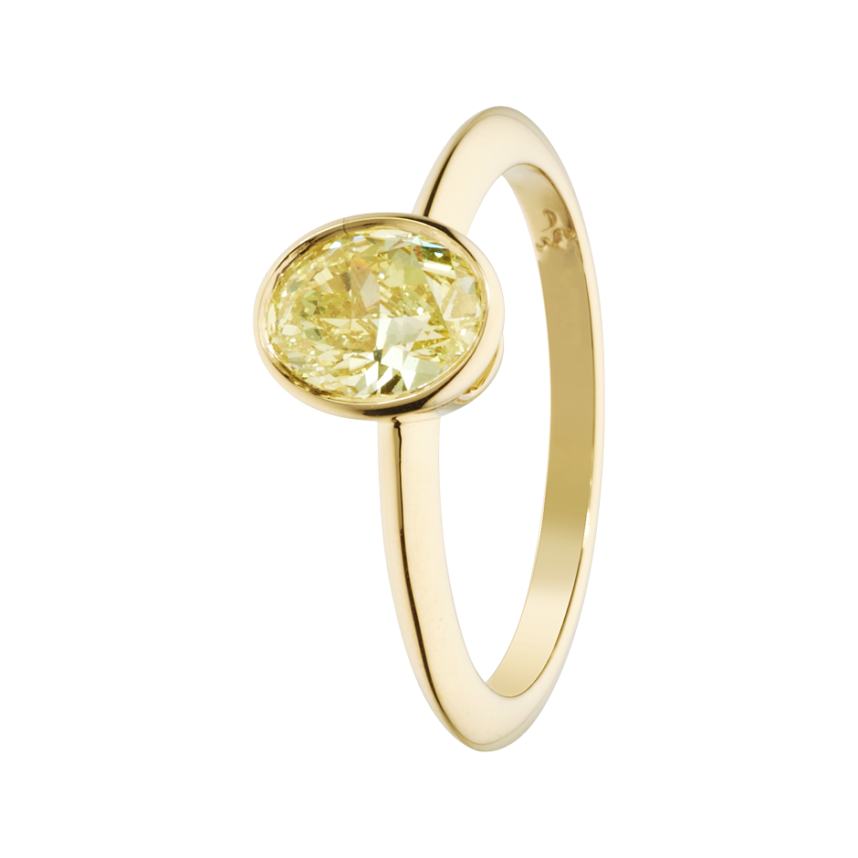 Diamond Ring Fancy Yellow in Yellow Gold