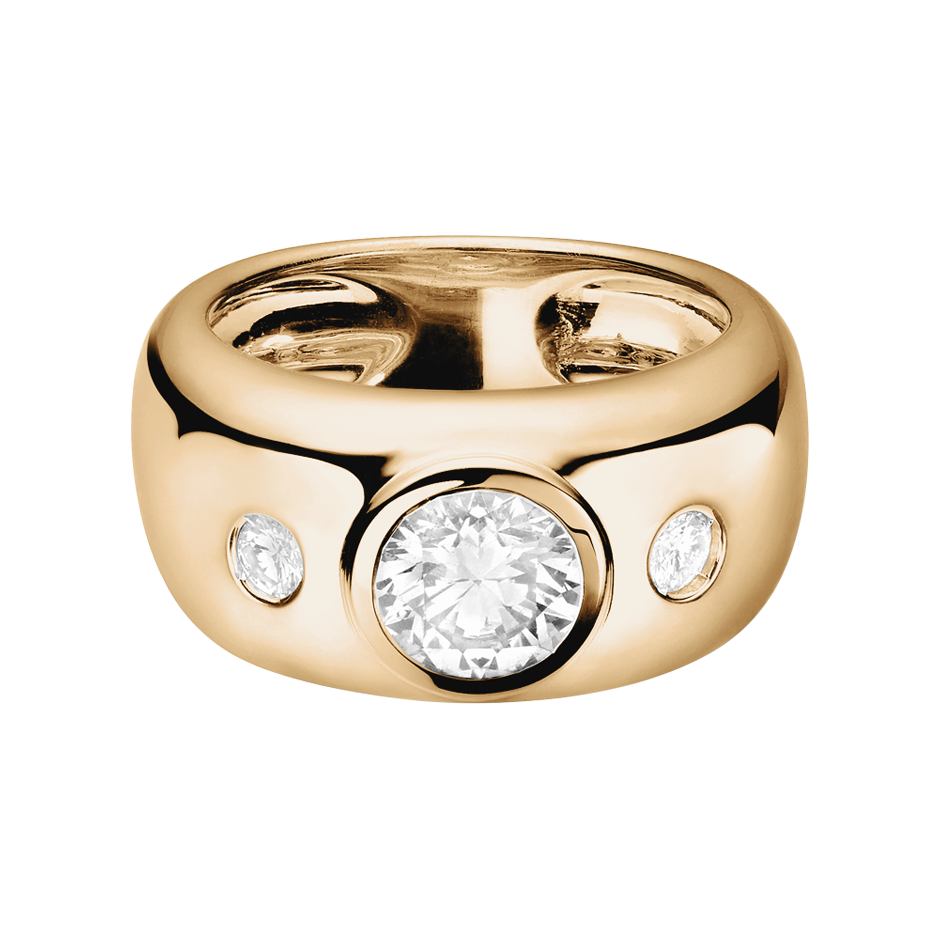 Diamond Ring Naples 1 carat in Rose Gold