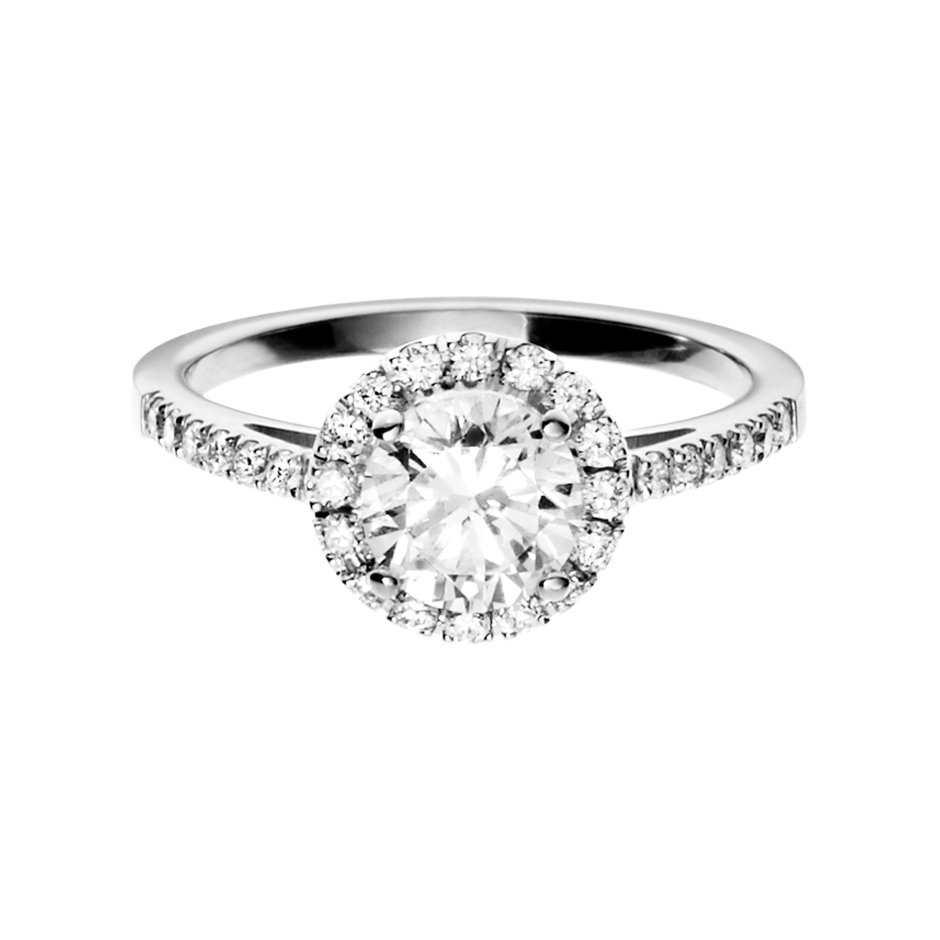 Diamond Ring Prague 0.75 carat in White Gold