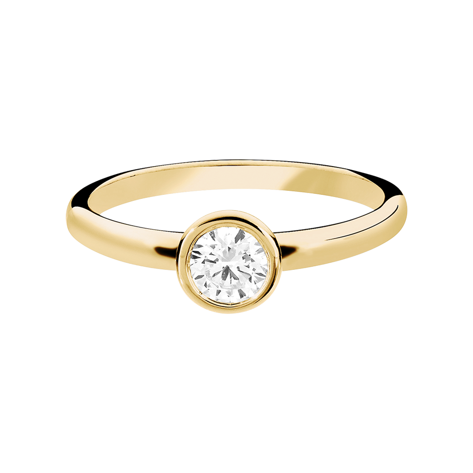 Diamond Ring Vienna 0.5 carat in Yellow Gold
