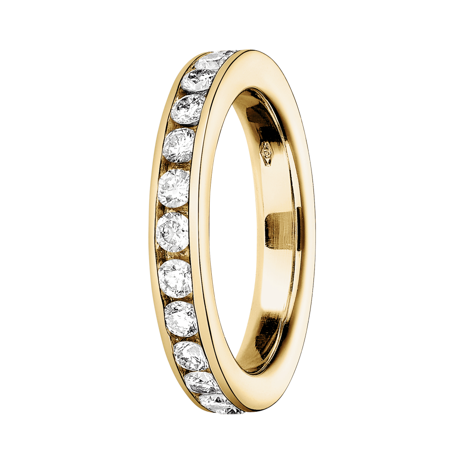 Eternity Ring Amsterdam H SI in Yellow Gold