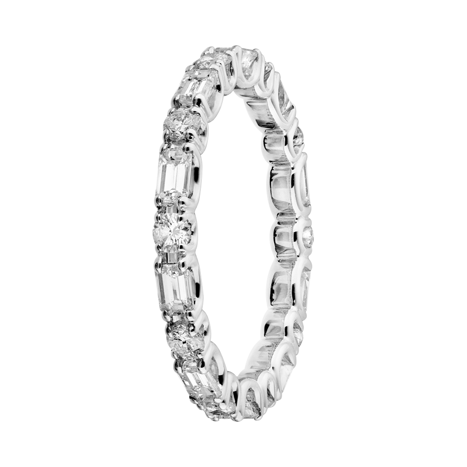 Eternity Ring Cannes in White Gold