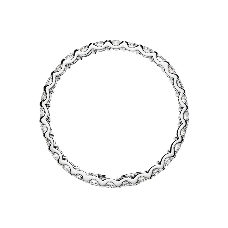 Eternity Ring Hamburg H SI in White Gold