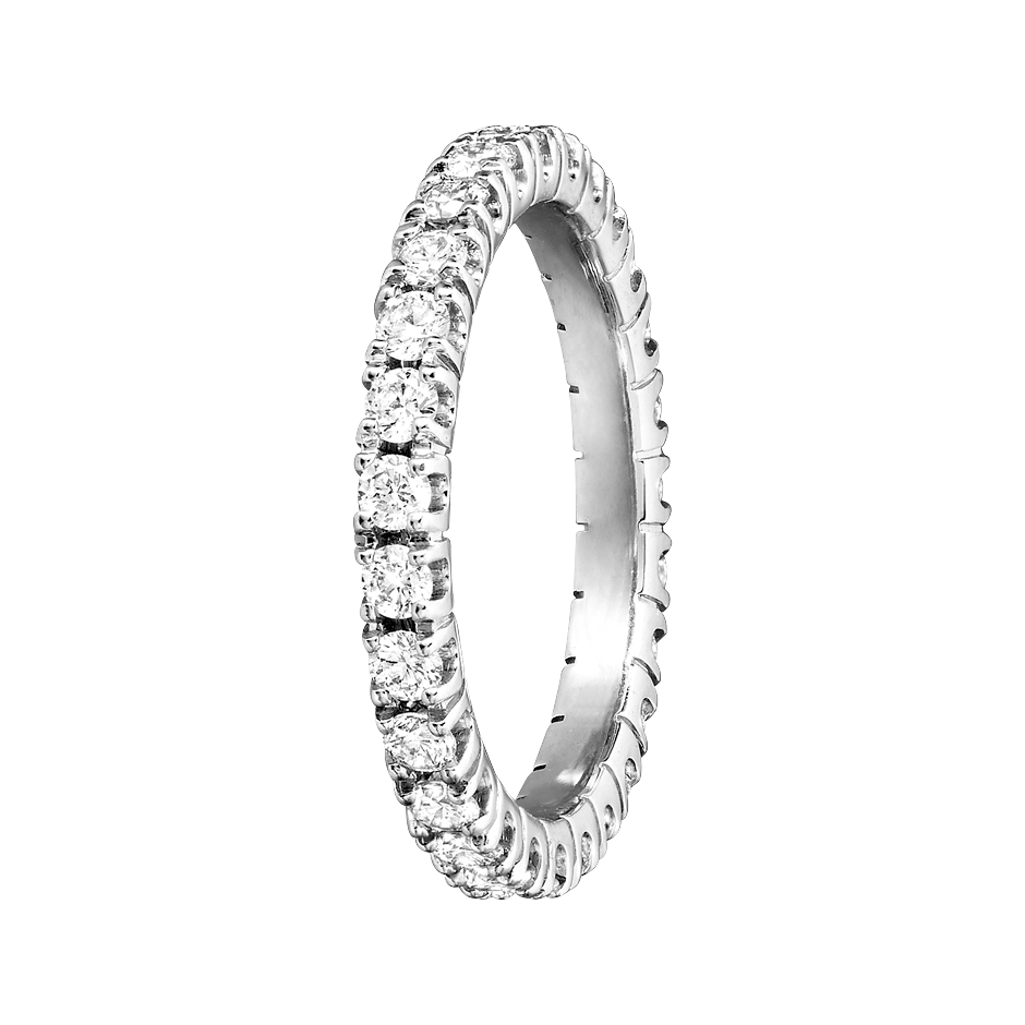 Eternity Ring Stockholm H SI in White Gold