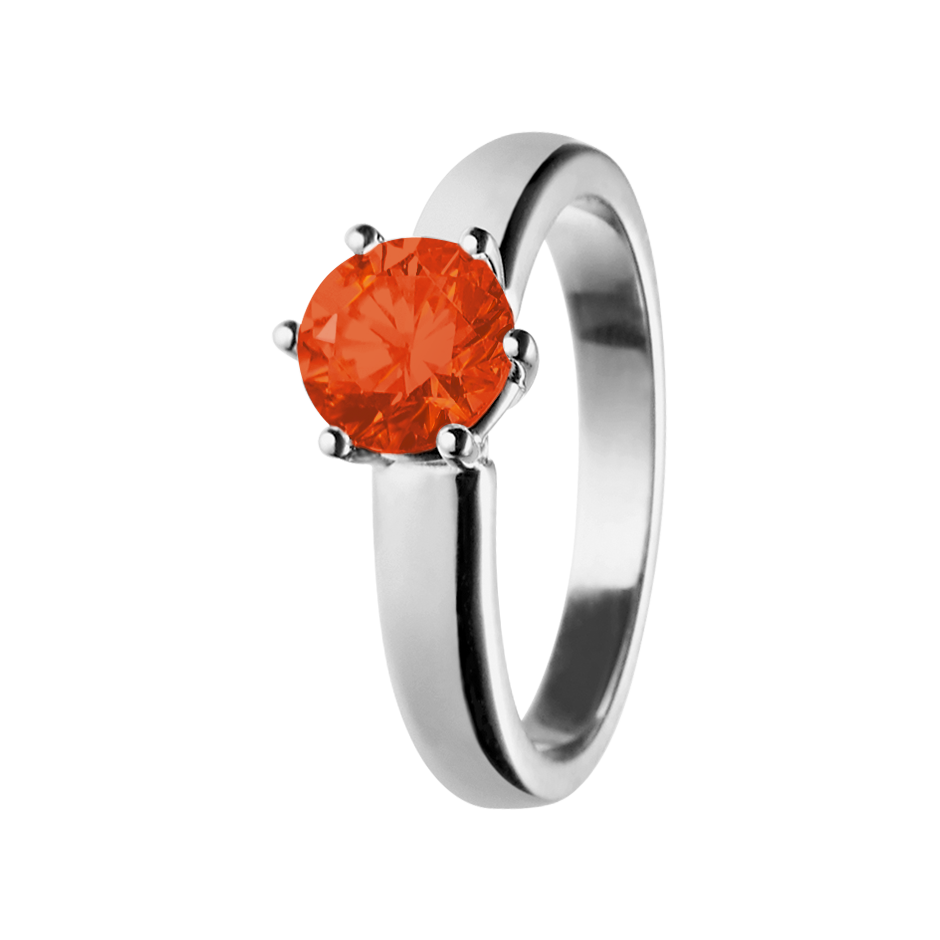 Malmö Fire Opal orange in White Gold