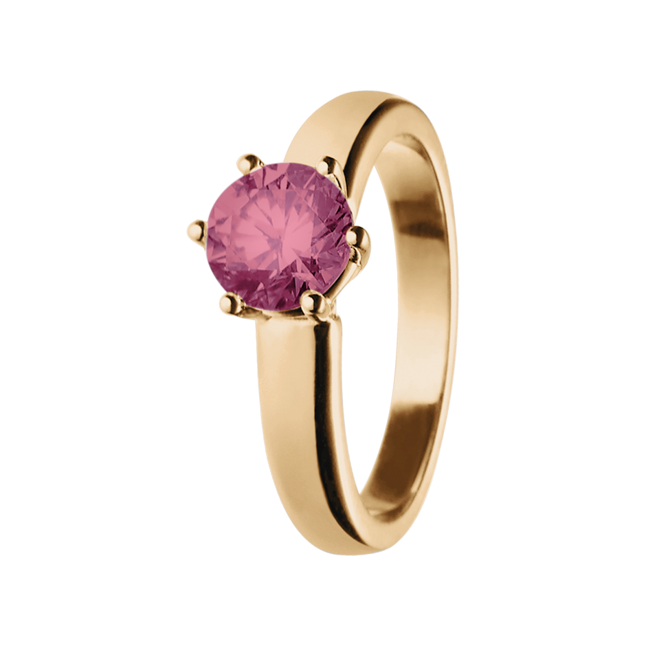 Malmö Tourmaline pink in Rose Gold