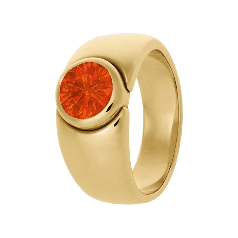 Mantua Feueropal orange in Gelbgold