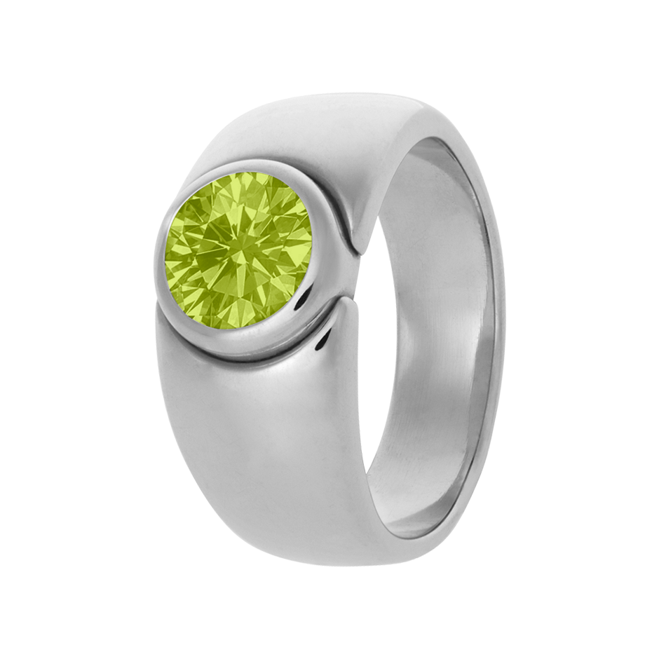 Mantua Peridot green in White Gold