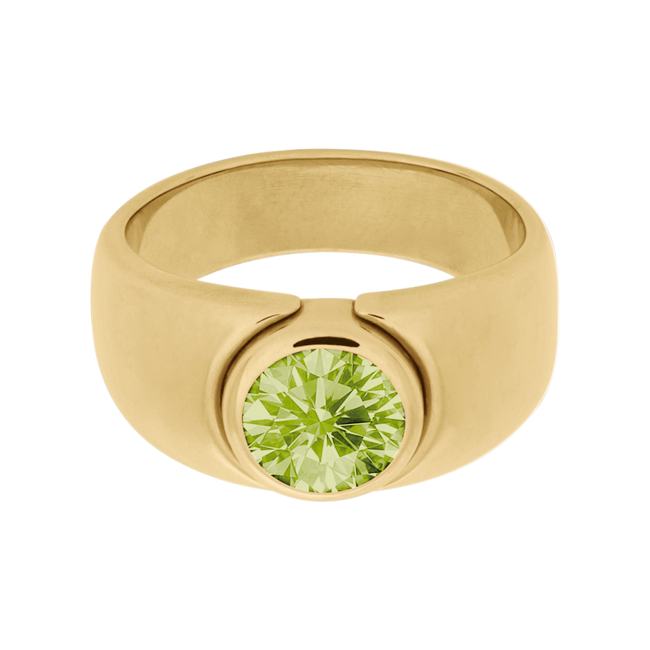 Mantua Peridot green in Yellow Gold