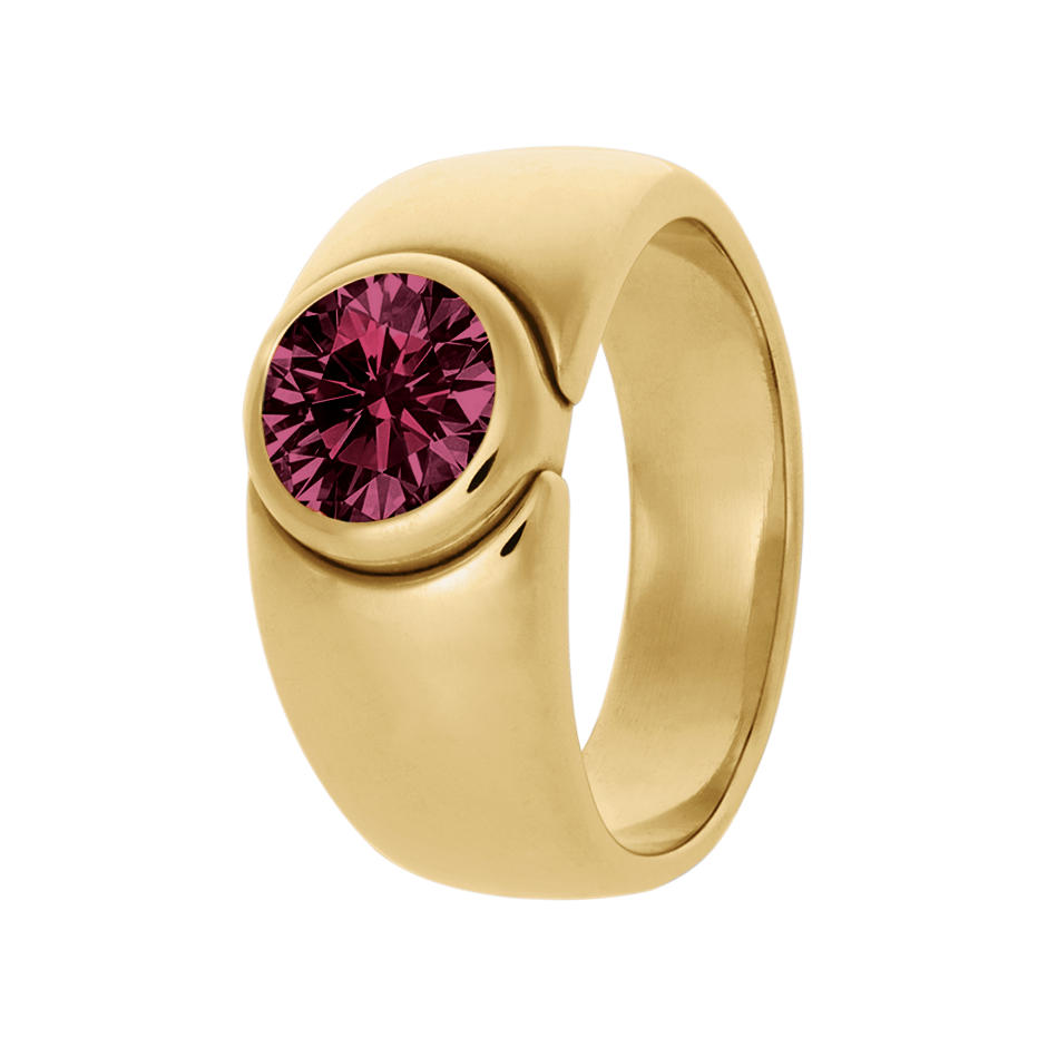 Mantua Rhodolite red in Yellow Gold