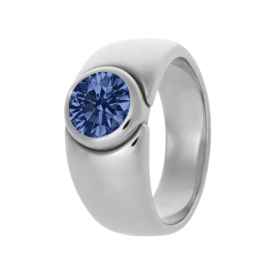 Mantua Tanzanite blue in Platinum