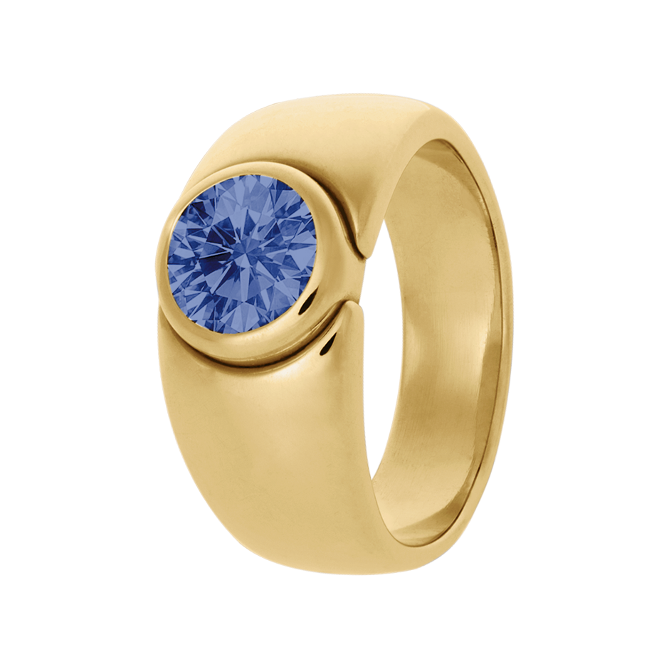 Mantua Tanzanite blue in Yellow Gold