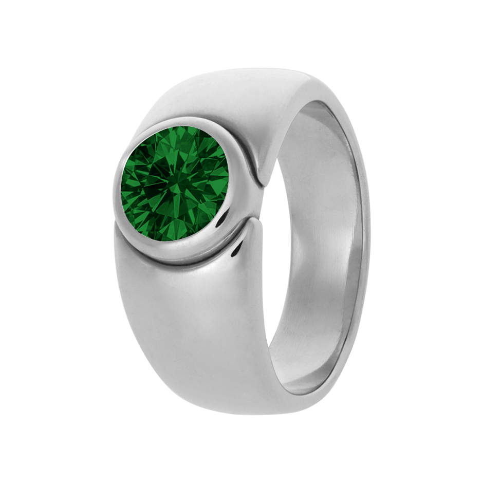 Mantua Tourmaline green in Platinum