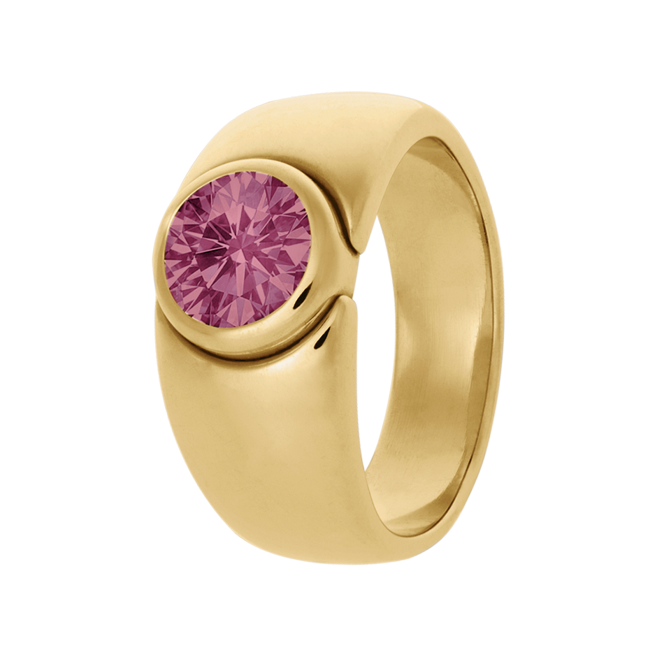 Mantua Turmalin rosa in Gelbgold