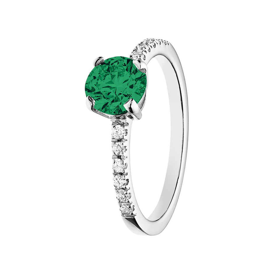 Melbourne Emerald green in Platinum