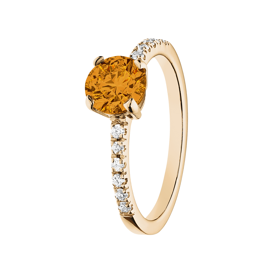Melbourne Madeira Citrine orange in Rose Gold