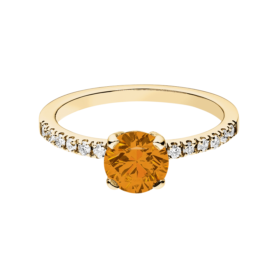 Melbourne Madeira Citrine orange in Yellow Gold
