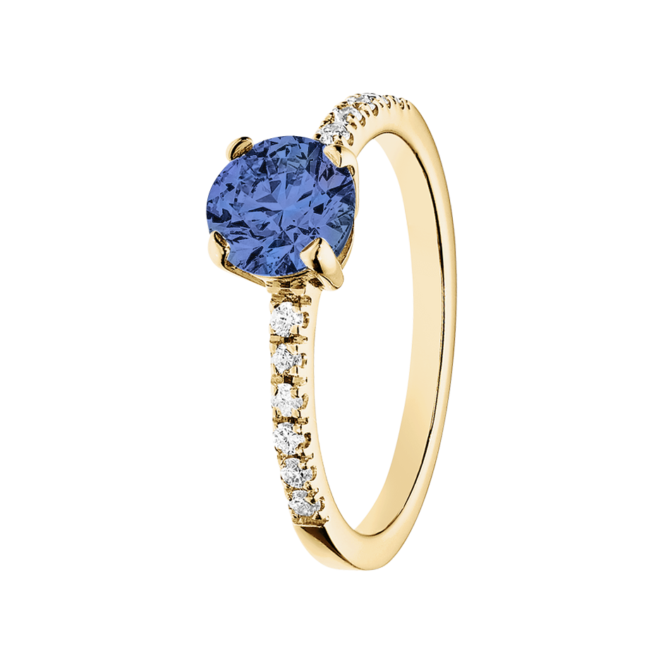 Melbourne Tanzanite blue in Yellow Gold
