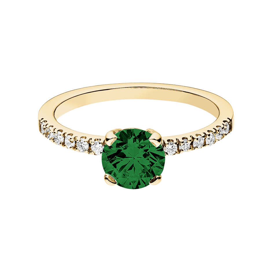 Melbourne Tourmaline green in Yellow Gold