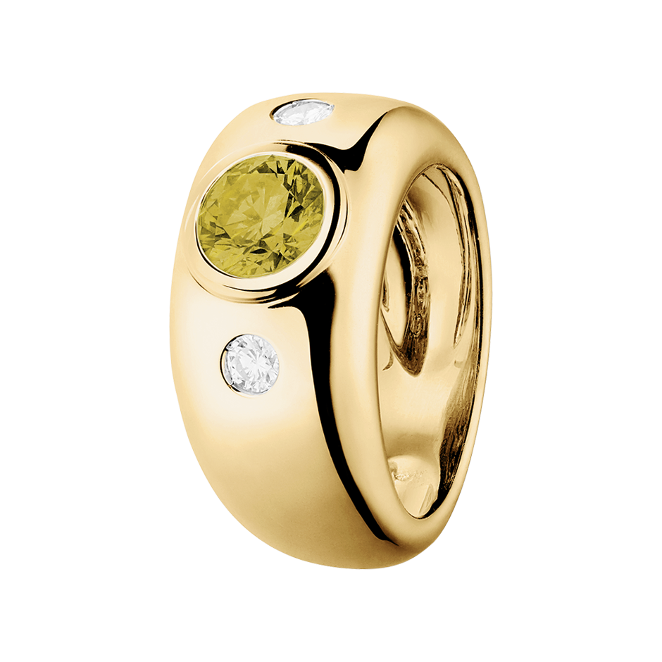 Naples Sapphire yellow in Yellow Gold