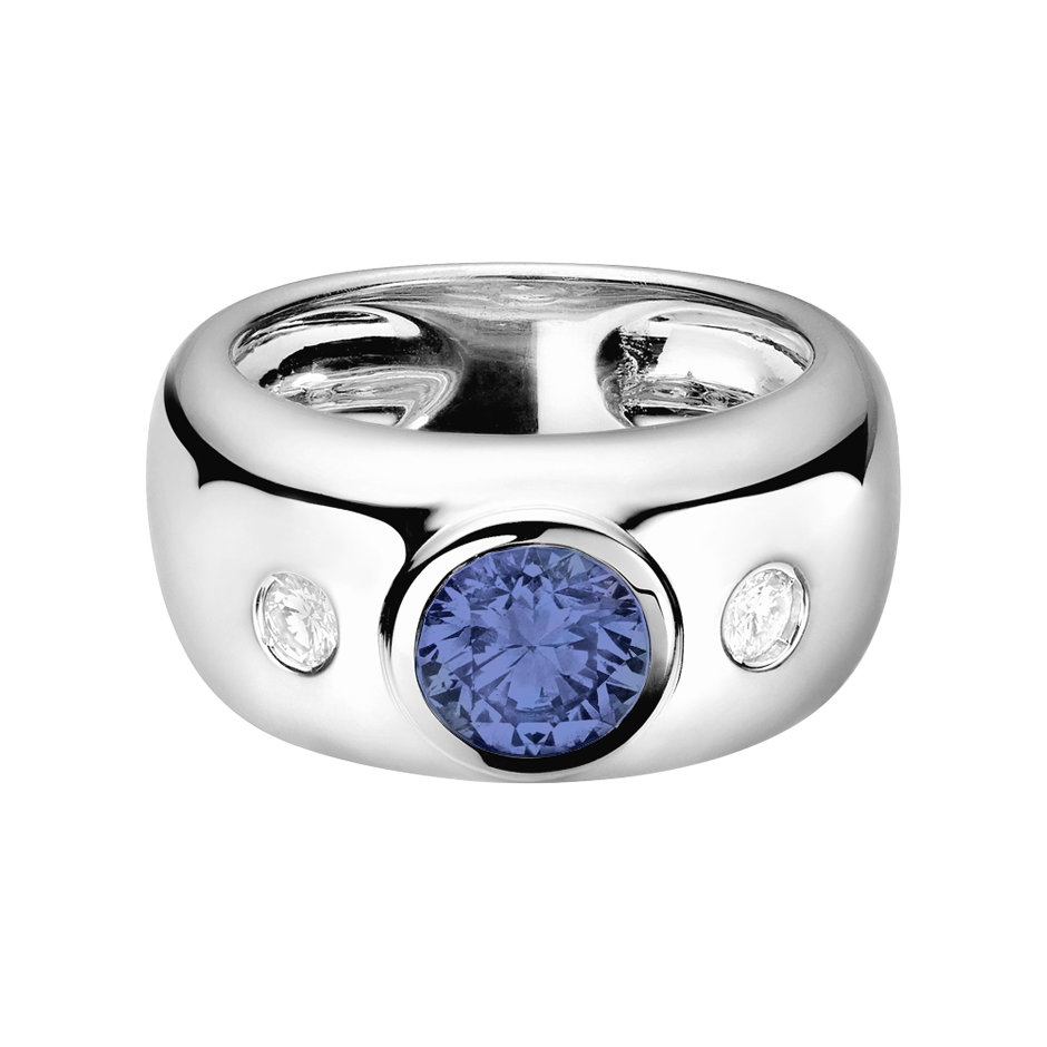 Naples Tanzanite blue in White Gold