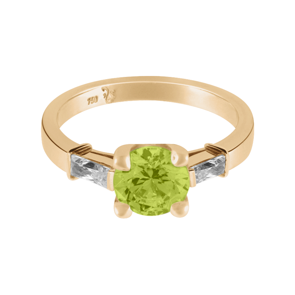 Paris Peridot green in Rose Gold
