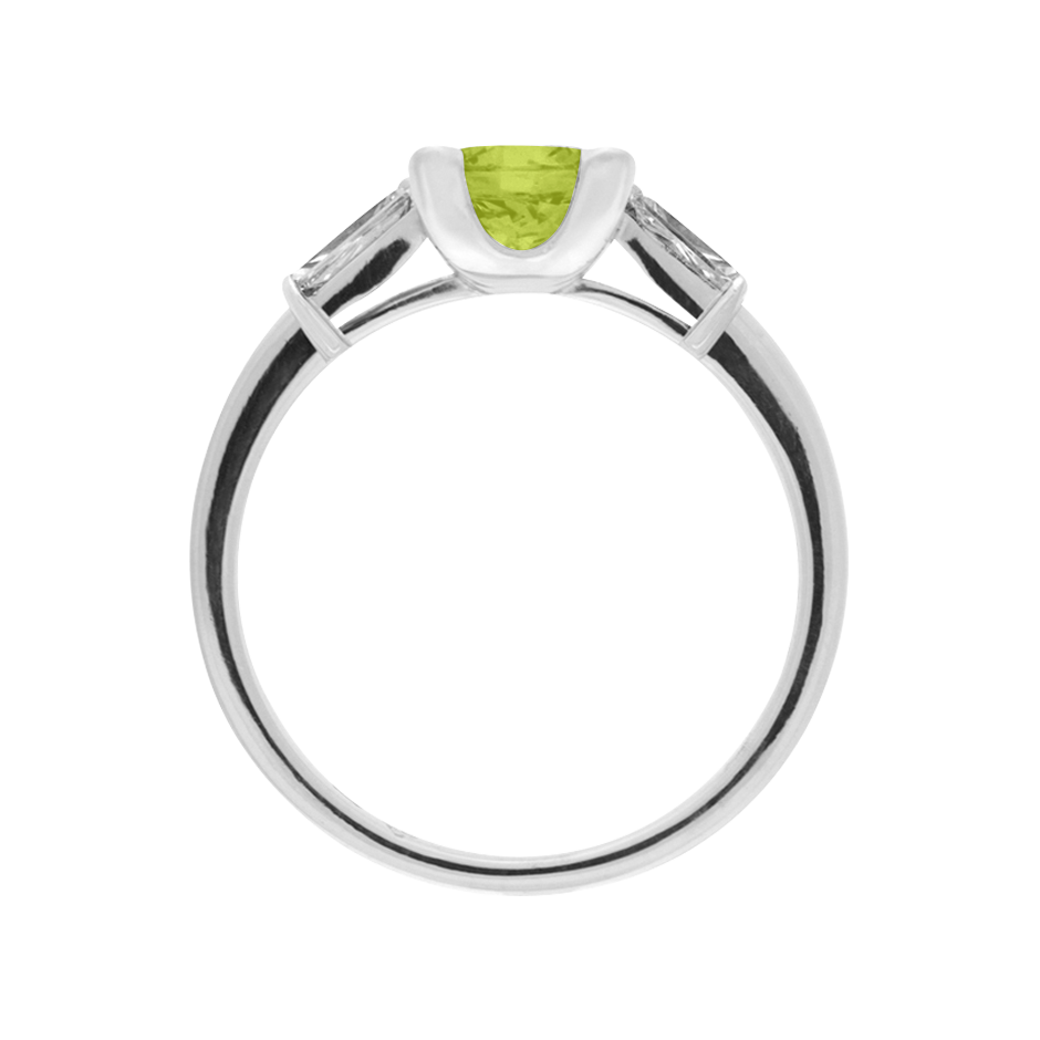 Paris Peridot green in White Gold