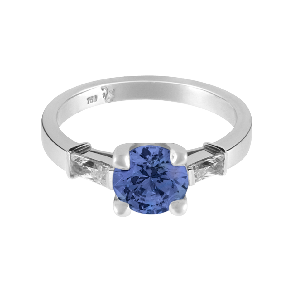 Paris Tanzanite blue in Platinum