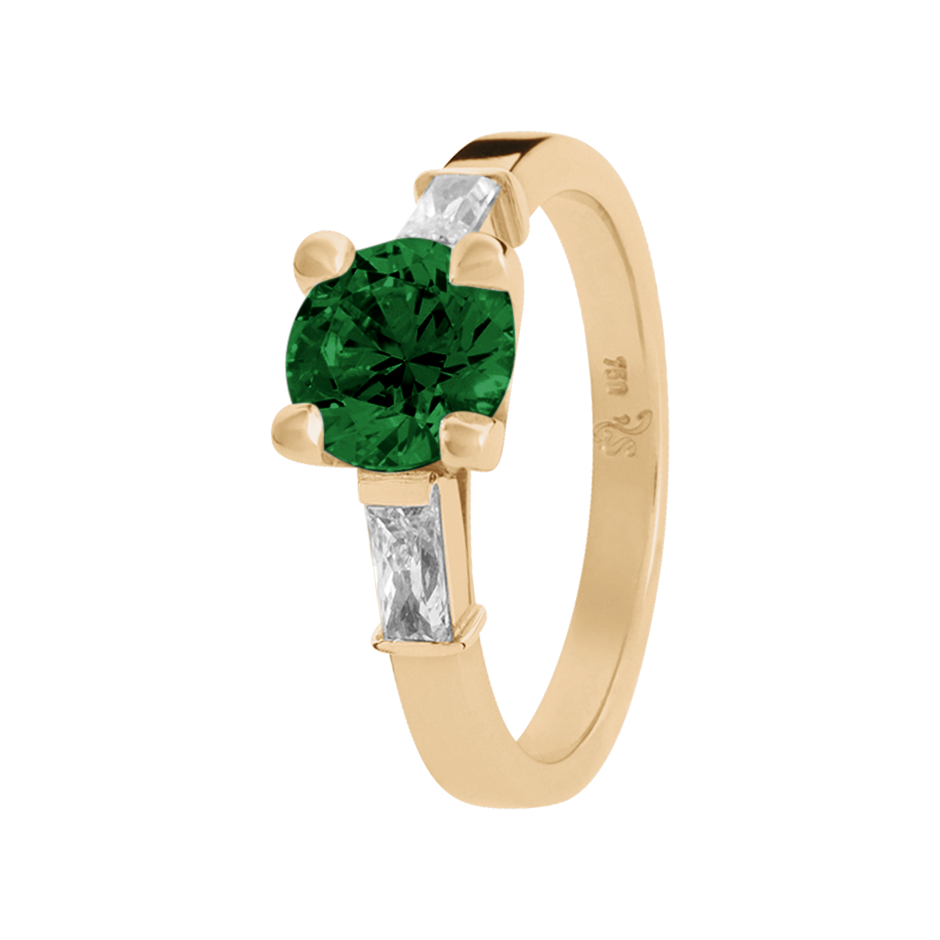 Paris Tourmaline green in Rose Gold