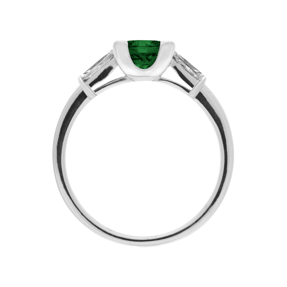 Paris Tourmaline green in White Gold