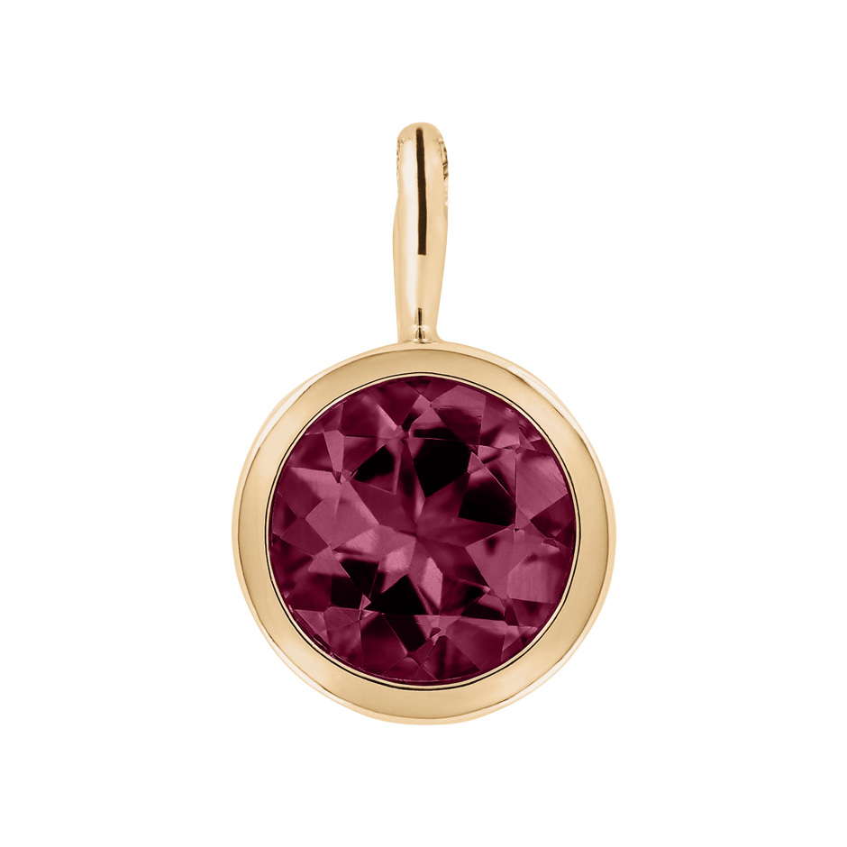 Pendant Bezel Rhodolite red in Rose Gold
