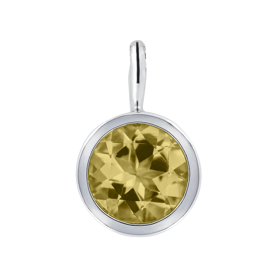 Pendant Bezel Sapphire yellow in White Gold