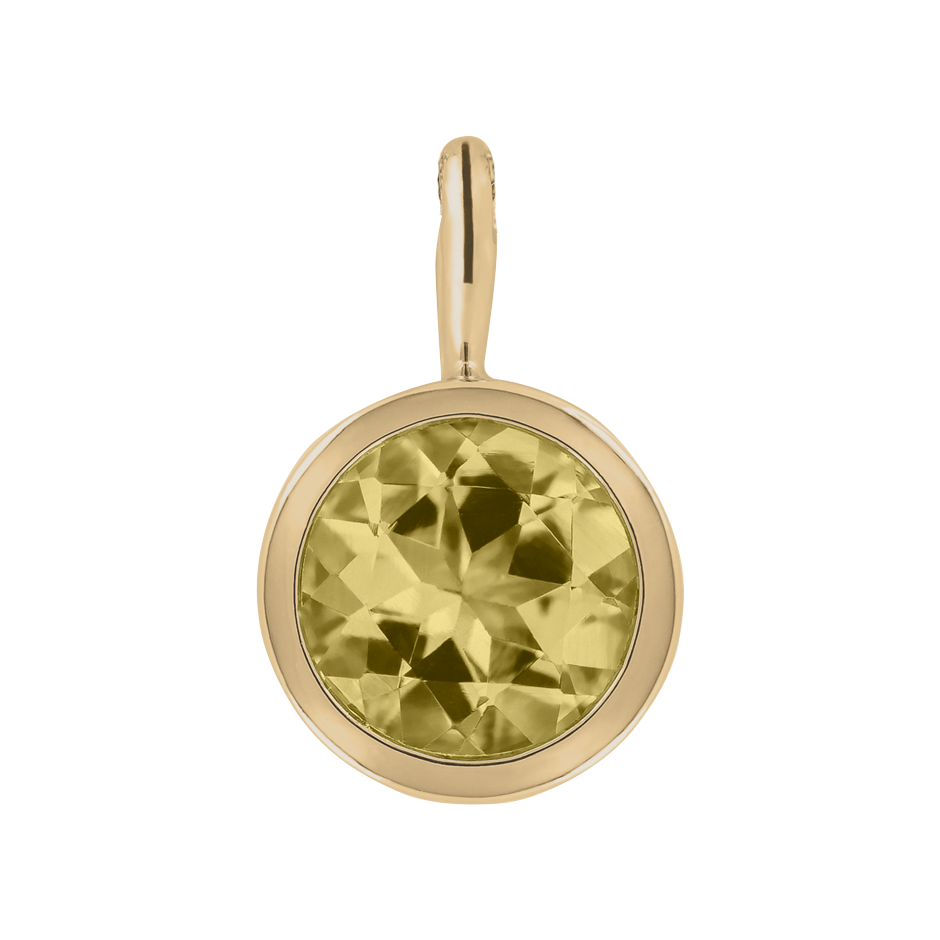 Pendant Bezel Sapphire yellow in Yellow Gold