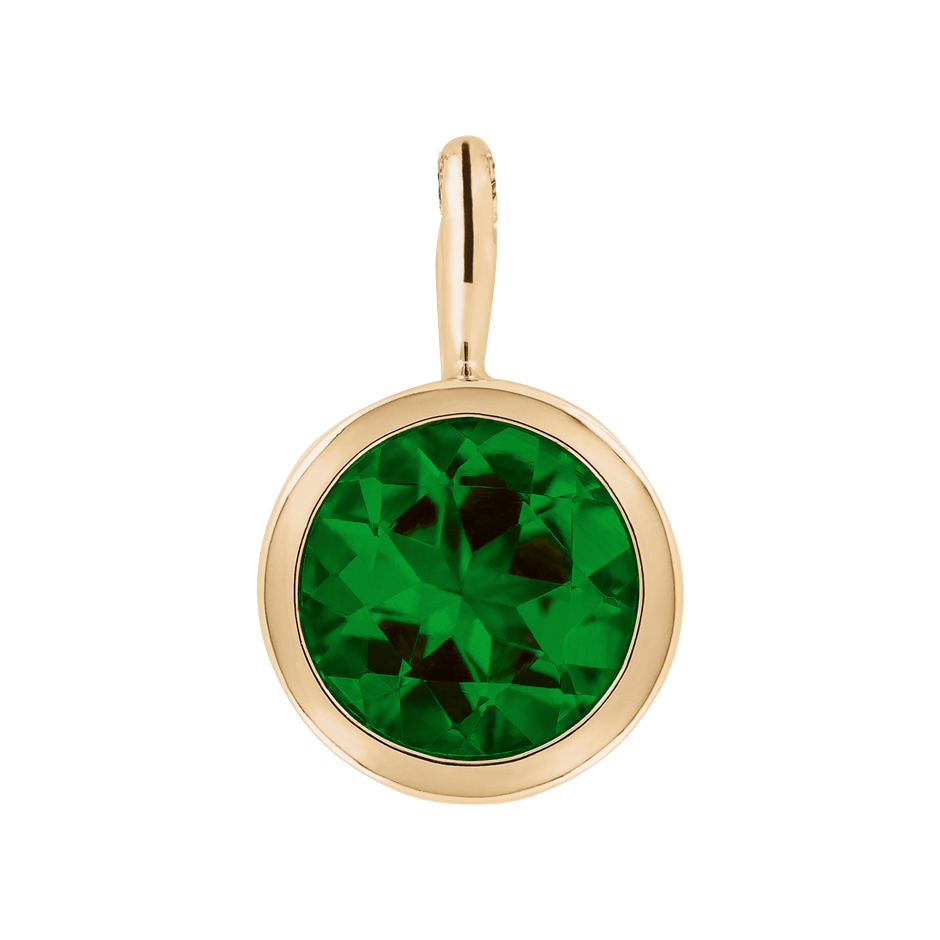 Pendant Bezel Tourmaline green in Rose Gold